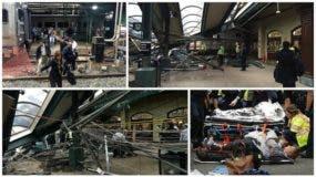 Más de 100 heridos en un accidente de tren en una estación de Nueva Jersey