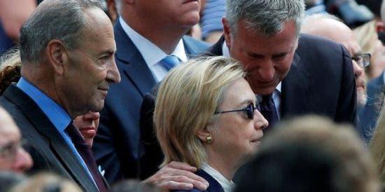 Video muestra a Hillary Clinton tambalearse tras evento por el 11Sep