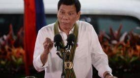 Rodrígo Duterte, presidente de Filipinas.