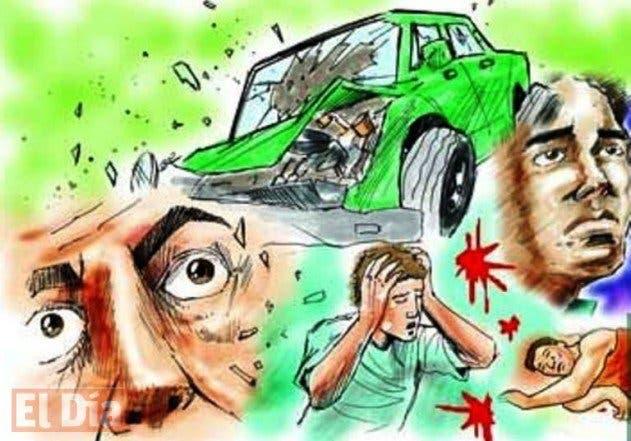 Accidente en Baní deja cuatro muertos y dos heridos