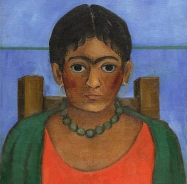 FILE- This undated image provided by Sotheby s shows   Ni  a con collar  or  Girl with necklace   a 1929 painting by Frida Kahlo  The painting is going to auction on Tuesday  Nov  22  2016  in New York as part of Sotheby s Latin American art sale   Sotheby s via AP