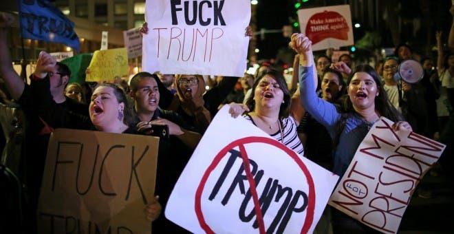 Por protestar contra Trump, detienen a 65 personas en Nueva York