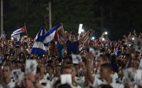 Izquierda latinoamericana honra a Fidel Castro en multitudinario acto