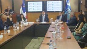 Rueda de prensa del Superintendente De Bancos, Luis Armando Asuncion,  el Procurador Jean Alain y Y la fiscal Jeni Berenice.