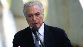 Presidente de Brasil, Michel  Temer. Foto de archivo