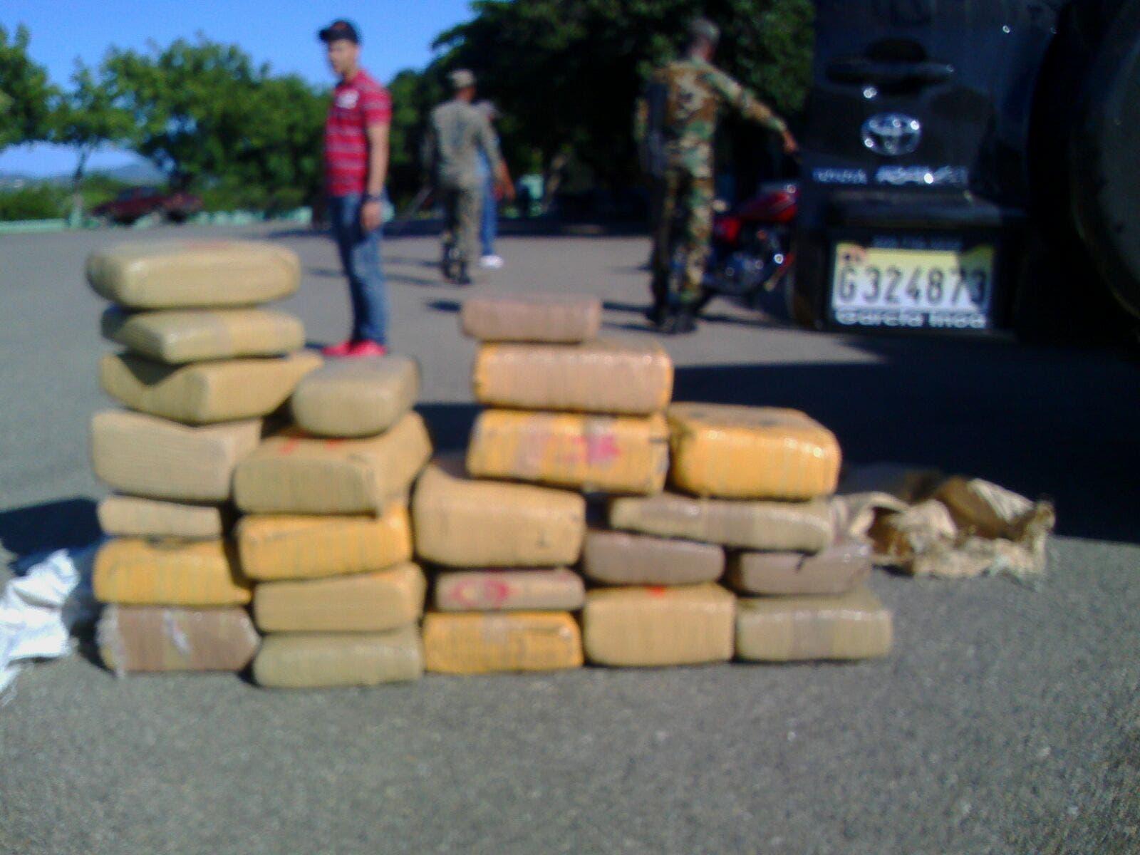 Incautan 234 libras de marihuana en Monte Cristi