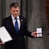 Santos alcanzó un histórico acuerdo de paz con los rebeldes de las FARC a comienzos de año.