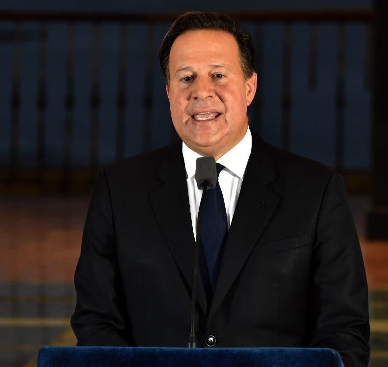 El presidente Juan Carlos Varela