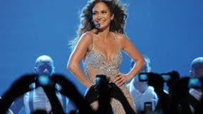 TOPSHOTS  US American actress and singer Jennifer Lopez, also known as JLo,  performs at the O2 World Arena in Berlin, Germany on October 13, 2012.   AFP PHOTO / TIM BRAKEMEIER    GERMANY OUTTIM BRAKEMEIER/AFP/GettyImages