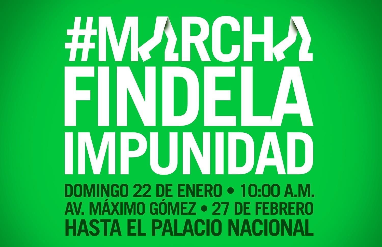 """Afiche convocando a la marcha  por el """"Fin de la Impunidad""""."""
