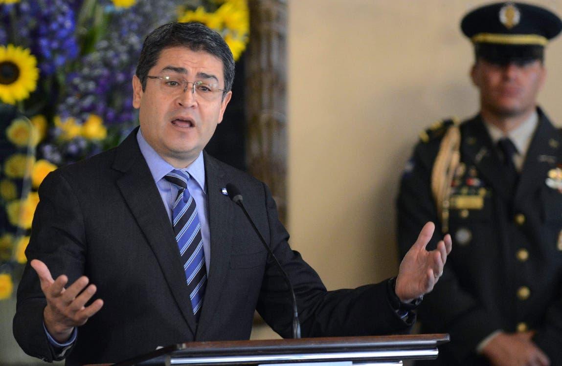 Juan Orlando Hernández, presidente de Honduras. AFP