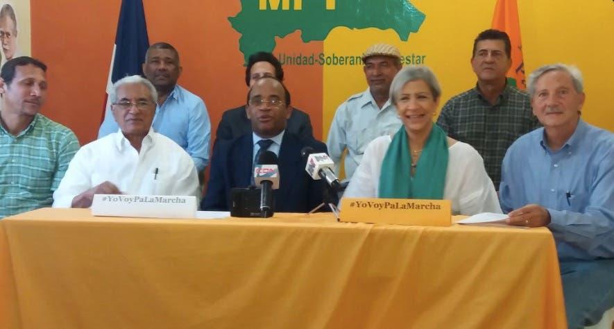 Dirigentes del MPT y otras organizaciones llamaron a su militancia a participar en la marcha contra la impunidad.