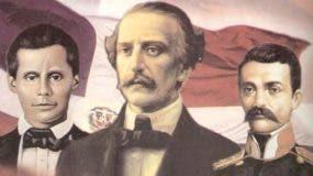 Francisco del Rosario Sánchez, Juan Pablo Duarte y Matías Ramón Mella.