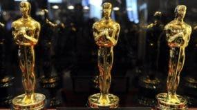 """Estatuas de Oscar expuestas en el Time Warner Center de Nueva York el 25 de febrero de 2010 durante la exhibición de la Academia de las Artes y las Ciencias Cinematográficas """"Meet the Oscars, New York"""" presentada por Kodak. La exhibición estará abierta al público hasta el 7 de marzo de 2010 el día de los 82 ° Premios de la Academia. AFP"""