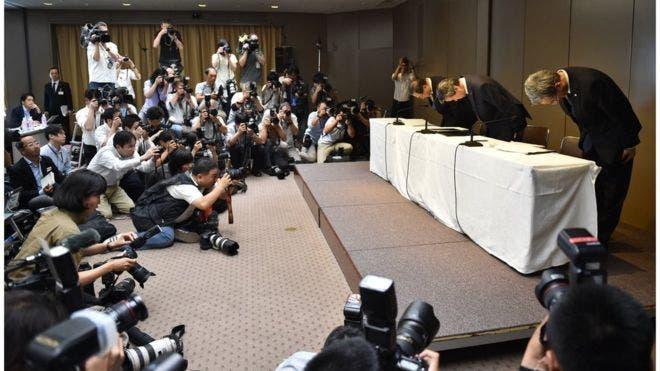 La prensa japonesa siempre está al tanto de las disculpas que ofrecen las personas cuando están relacionadas con algún delito que afecte de alguna manera a la sociedad.