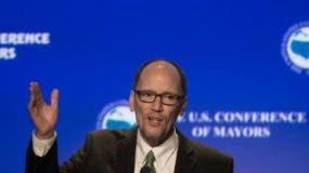 Tom Perez  fue elegido presidente del Comité Nacional Demócrata (DNC, por sus siglas en inglés) con 235 votos a favor de los 435 en juego.