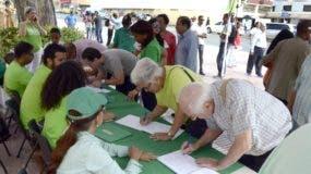 Firmas libro verde