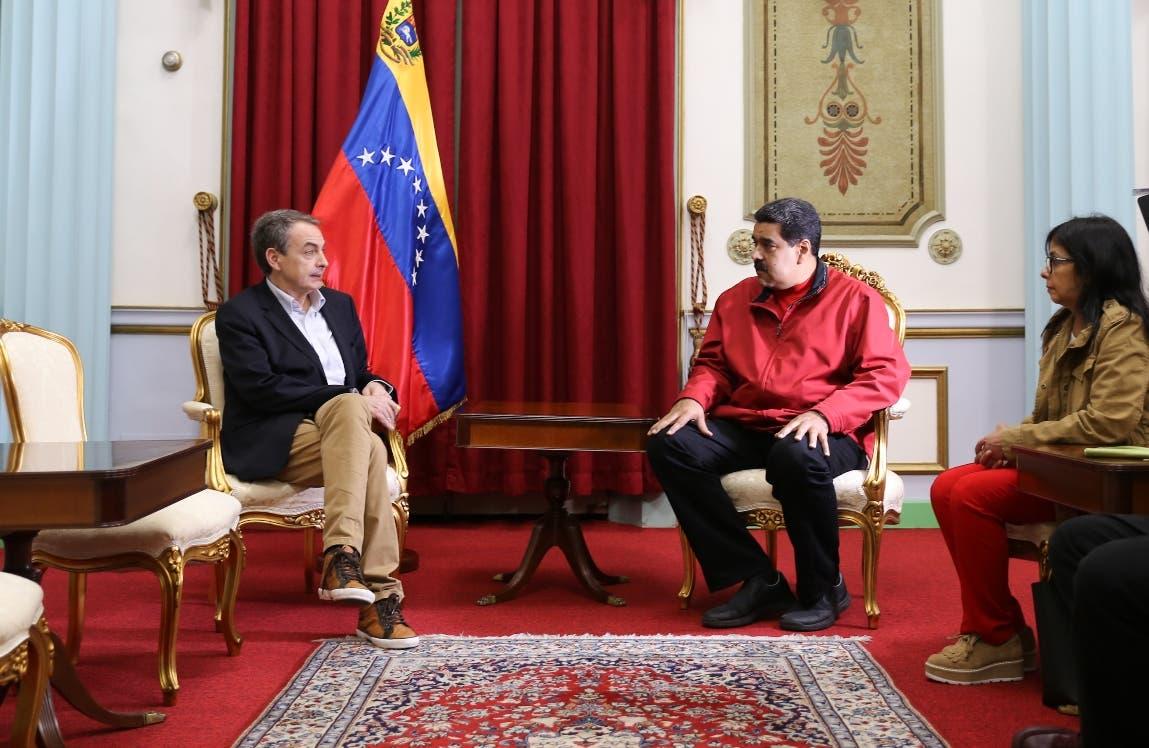 Resultado de imagen de Zapatero se reúne con Maduro para reactivar el diálogo