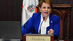 Lucía Medina, presidenta de la Cámara de Diputados.