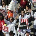California fue uno de los estados en donde los norteamericanos  con el 'Obamacare' realizaron un gran número de protestas.