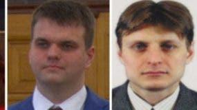 Los dos espías rusos  son Dmitry Dokuchaev e Igor Sushchin.
