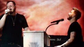 """Sin Bandera cantó """"Junto por última vez"""", pero al finalizar su concierto Leonel García dijo """"hasta pronto""""."""