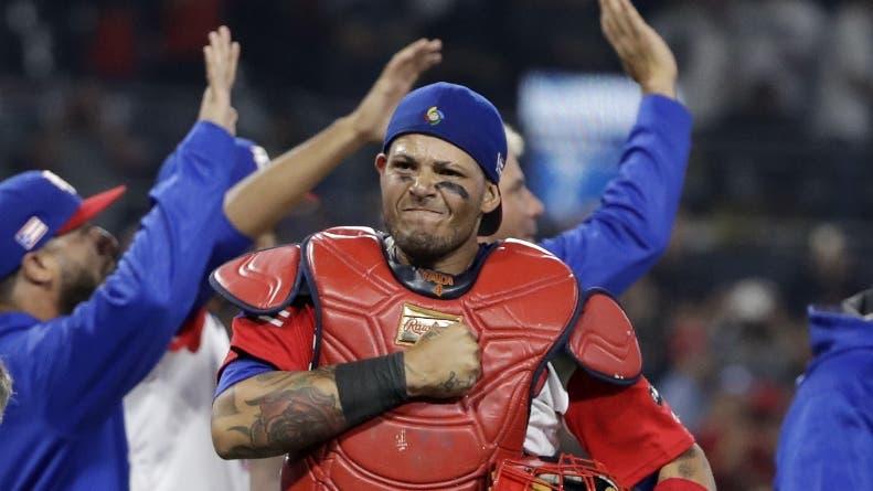 Yadiel Molina, estelar receptor de la selección de Puerto Rico.