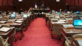En la gráfica muestra de  los asientos vacíos de los congresistas  mientras se conocía el proyecto.