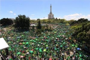 Miles de personas participaron en la marcha Verde en Santiago. Foto: Elieser Tapia.
