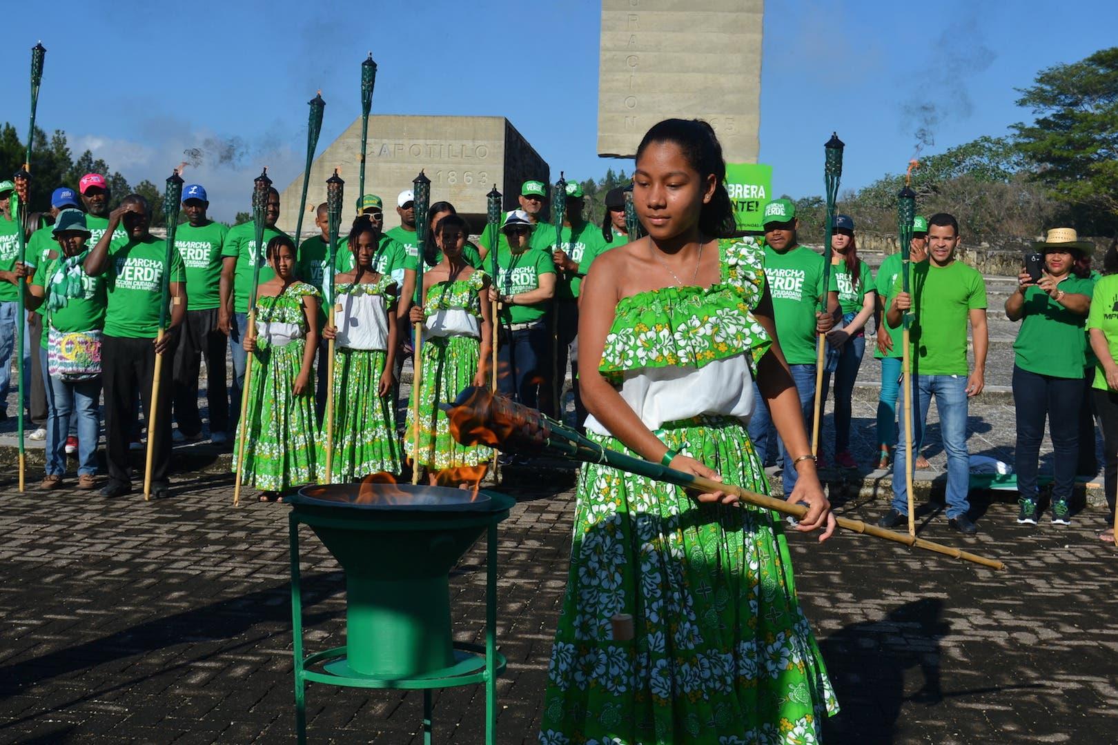 Encienden en Dajabón la «Llama Verde» del Fin de la Impunidad