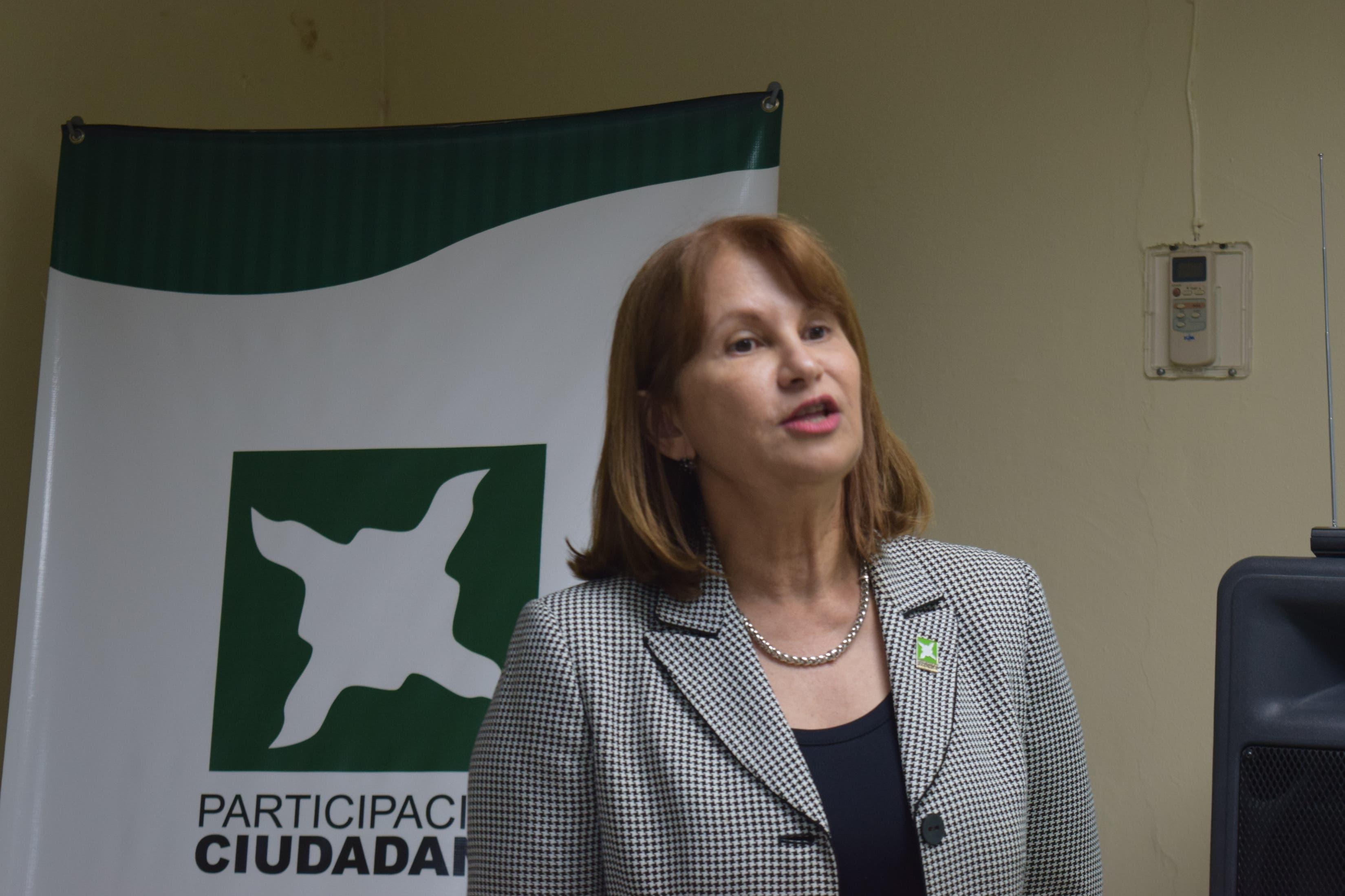 Rosalía Sosa, directora ejecutiva de Participación Ciudadana.