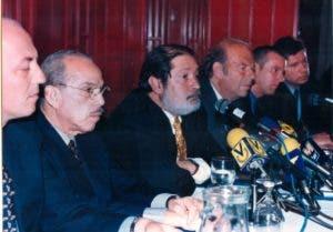 Rafael Molina Morillo en una misión sobre libertad de prensa de la SIP en Venezuela.