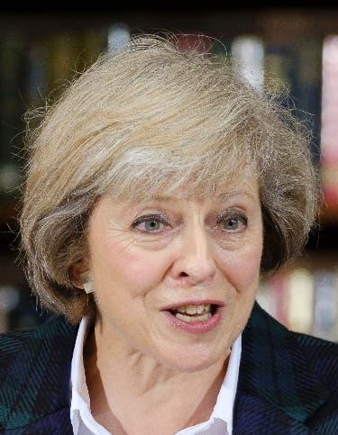 Primera ministra Theresa May.