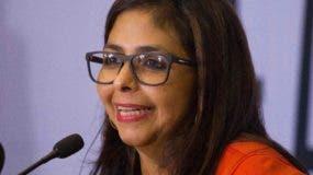 Delcy  Rodríguez, presidenta de la Asamblea Constituyente.