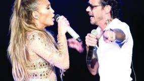 """Jennifer López  cantó  """"Olvida y pega la vuelta"""" con Marc Anthony."""