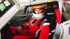 Pedro A. Redondo luego de una de las competencias celebradas en el circuito de Homestead.