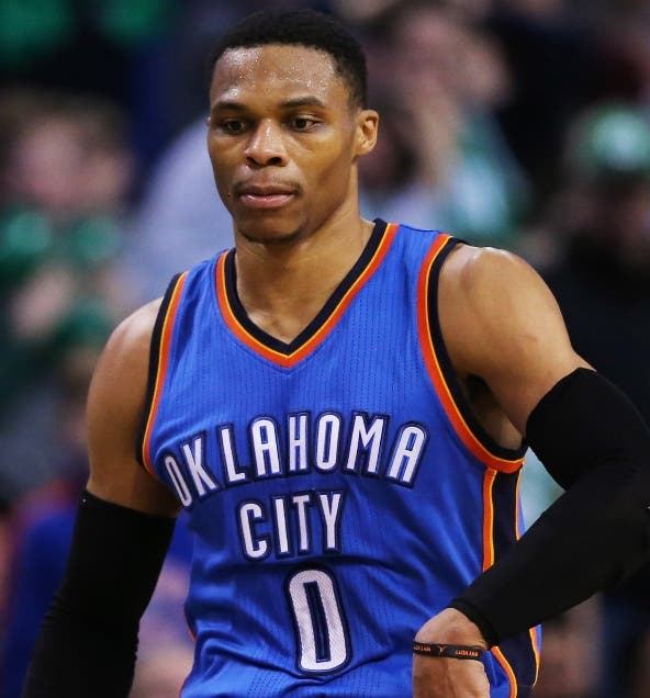 Russell Westbrook la estrella de Oklahoma City.