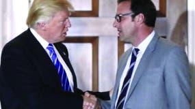 El presidente de Estados Unidos Donald Trump y Todd Ricketts.