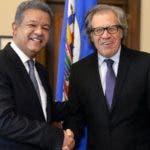 Leonel Fernández y Luis Almagro se reunieron en Funglode.