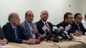 Representantes de la oposición. Foto de archivo.