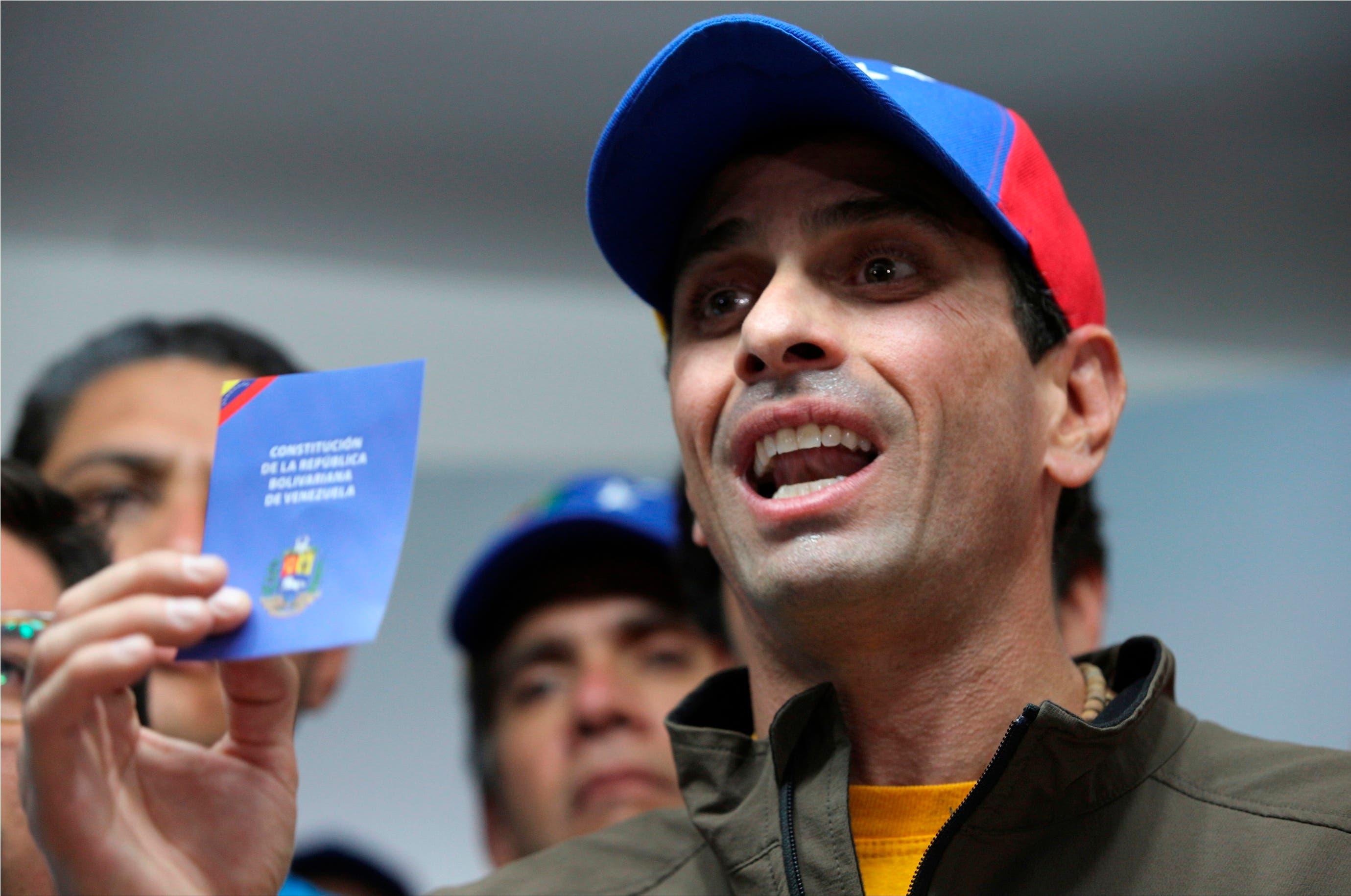 Lo instamos a reconsiderar inhabilitación de Capriles — EEUU a Maduro