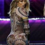Host Jennifer Lopez performs during the 2015 American Music Awards in Los Angeles