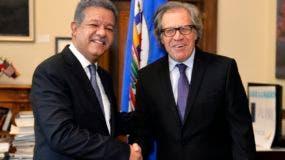 Leonel Fernández y Luis Almagro.