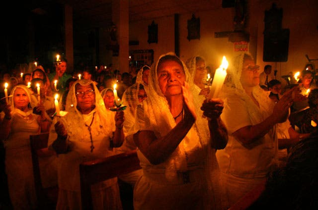 Arzobispo celebra misa de Pascua en Palmasola
