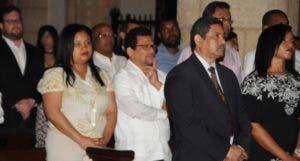El personal de El DÍA acudió  al acto religioso realizado ayer en la catedral de Santo Domingo.