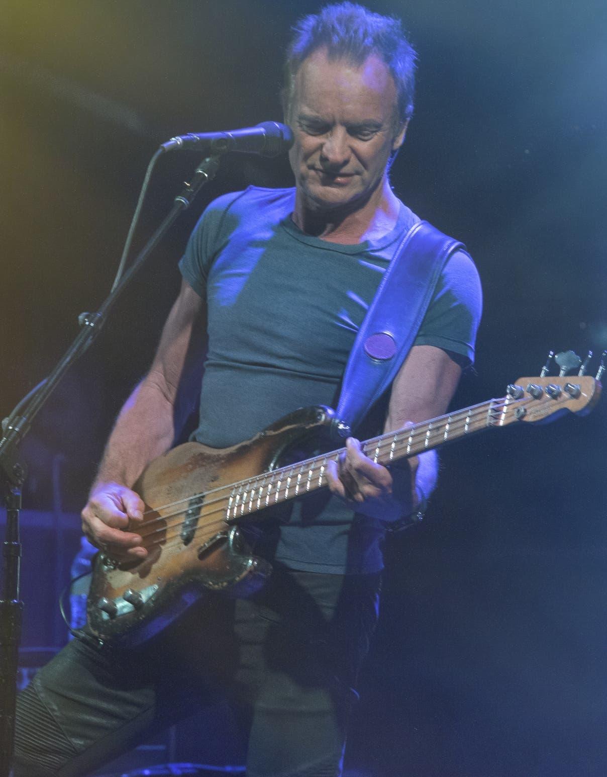 Sting, un músico formidable en escena