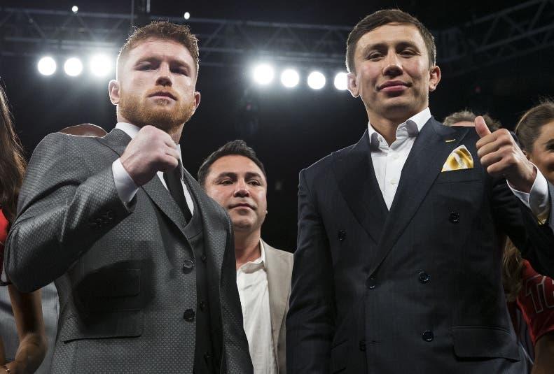 "Saúl ""Canelo"" Alvarez (izquierda) y Gennady Golovkin."