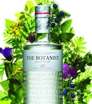 La botella de The Botanist.