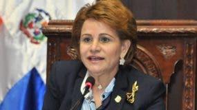 Lucía Medina, pesidenta de la Cámara de Diputados.