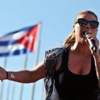 La cantante puertorriqueña Olga Tañón ofrece un concierto hoy, sábado 12 de diciembre de 2015, en La Habana (Cuba).